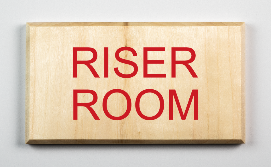 Riser Room Sign, red