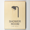 Eco-friendly ADA braille Shower Room Sign