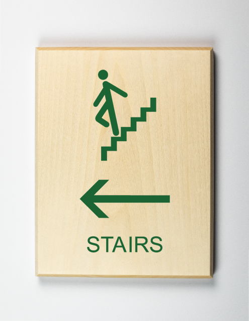 Stairs to Left Sign