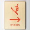 Stairs to Right Sign