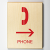 Telephone to Right ADA Sign