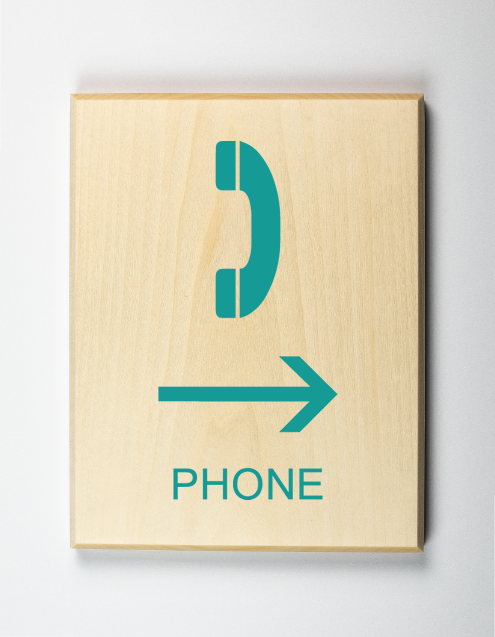 Phone to Right Sign
