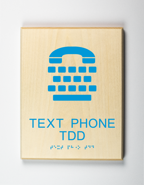 Text Phone TDD Sign