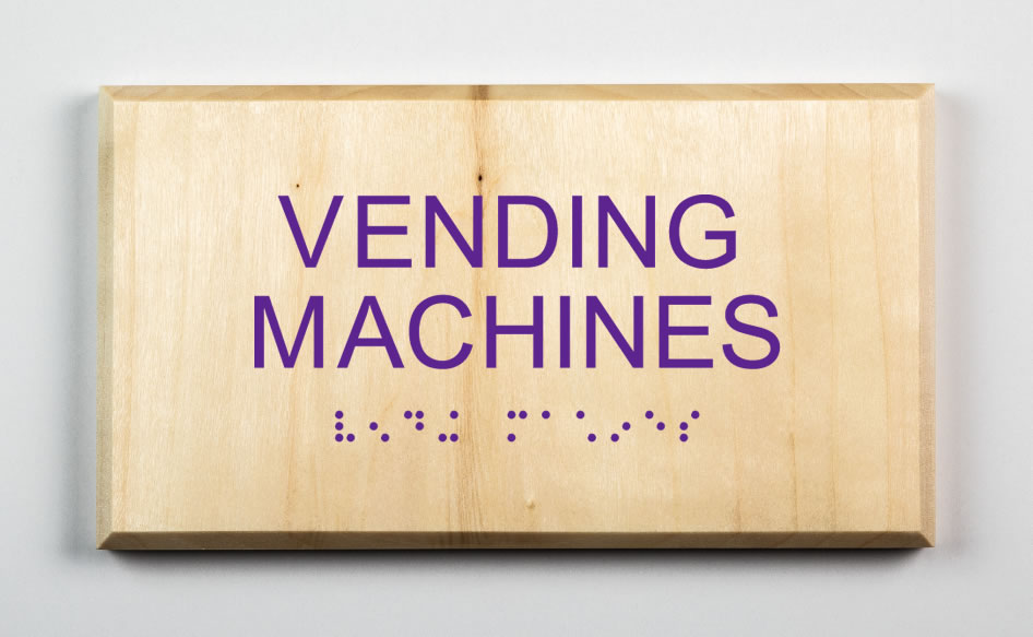 Vending Machines Sign, purple