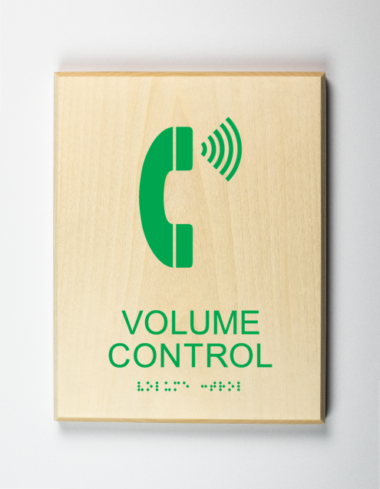 Volume Control Phone Sign