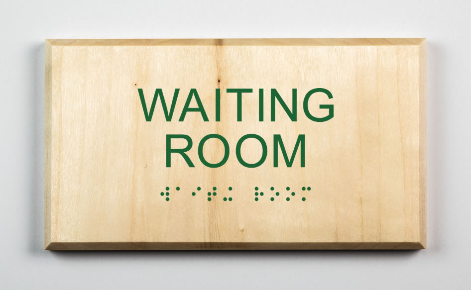 Waiting Room Sign-forest