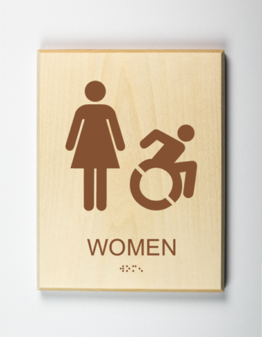Handicap Accessible Womens Restroom Sign