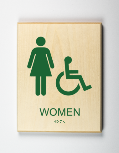ADA Sign, Womens Bathroom