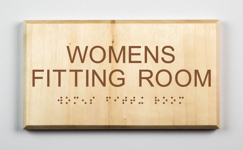 Womens Fitting Room Sign-brown