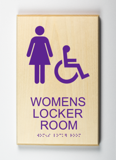 Womens Locker Room Sign, Accessible