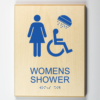 Accessible Womens Shower Sign