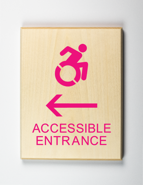 Eco-friendly Accessible Entrance to Left Sign Using Modified ISA
