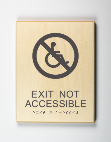 Eco-friendly Exit is Not Accessible Sign