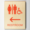 """Eco-friendly """"Restroom to Left Sign"""