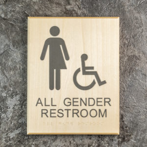 Green Dot Sign - Most common All Gender Restroom Sign