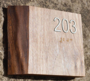 Live Edge Room Number Sign by Green Dot Sign