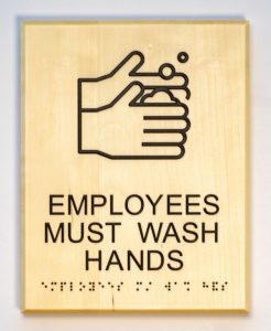 Sustainable Signage: Employees Must Wash Hands