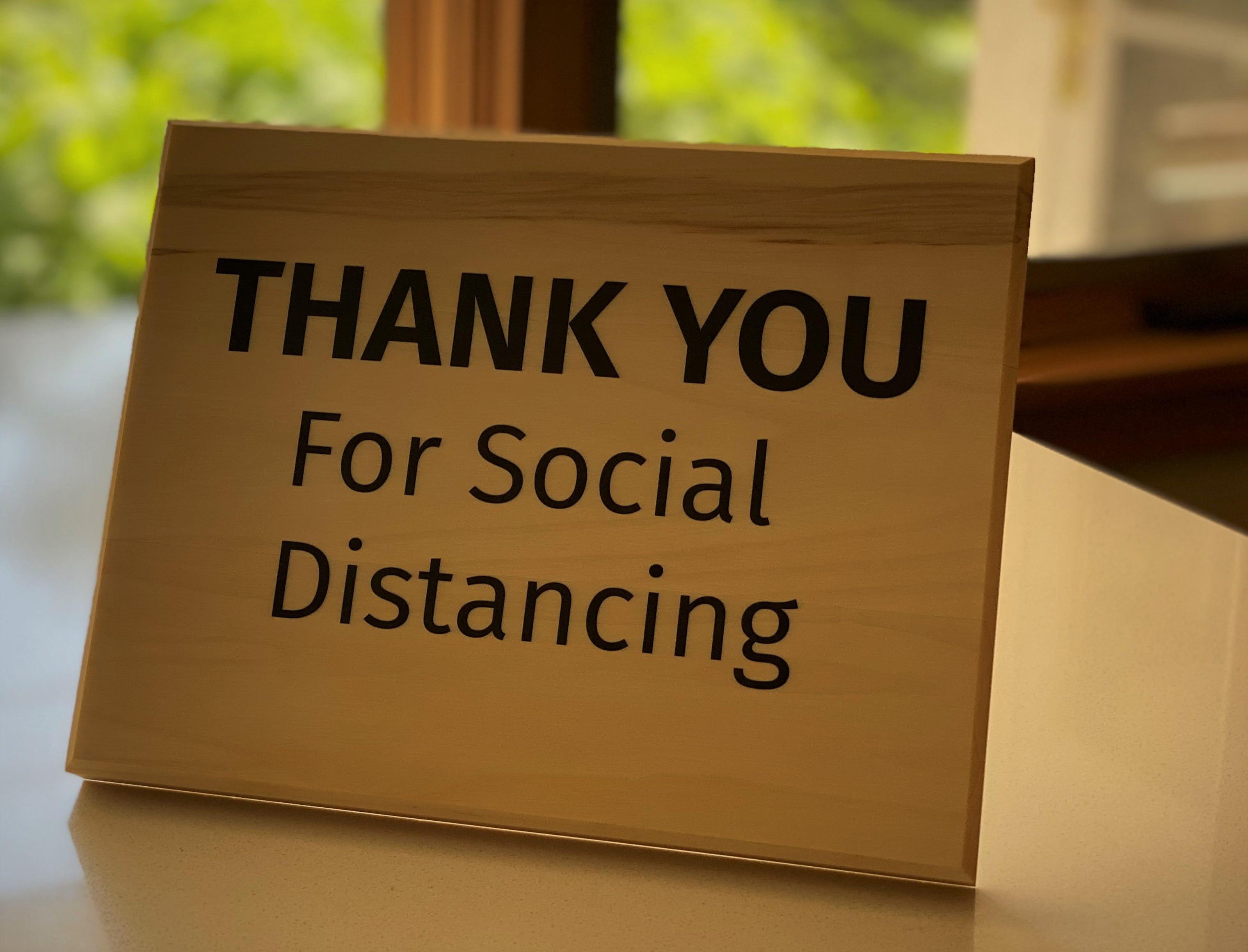 Thank You for Social Distancing Sign, Standing