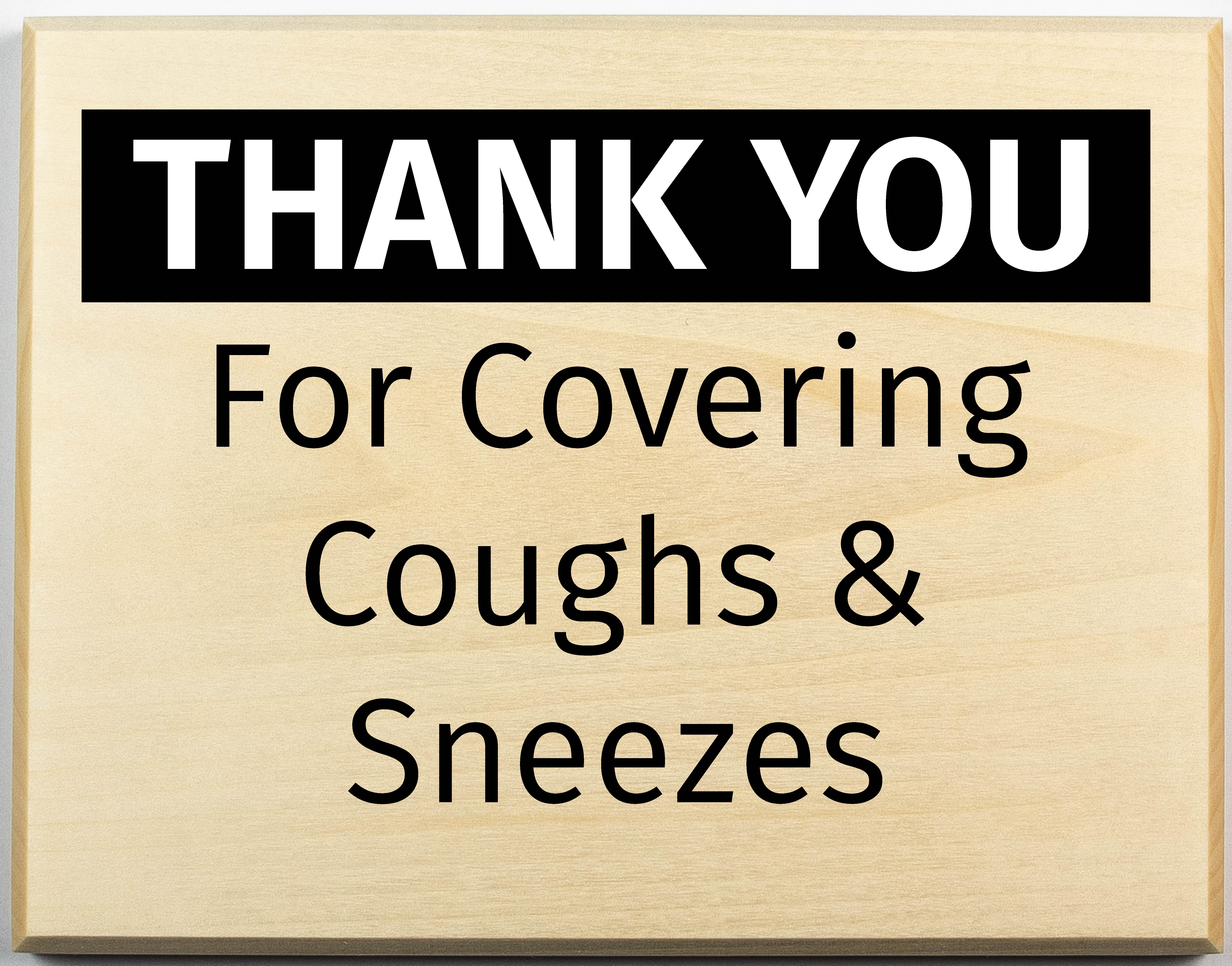 covering coughs and sneezes sign