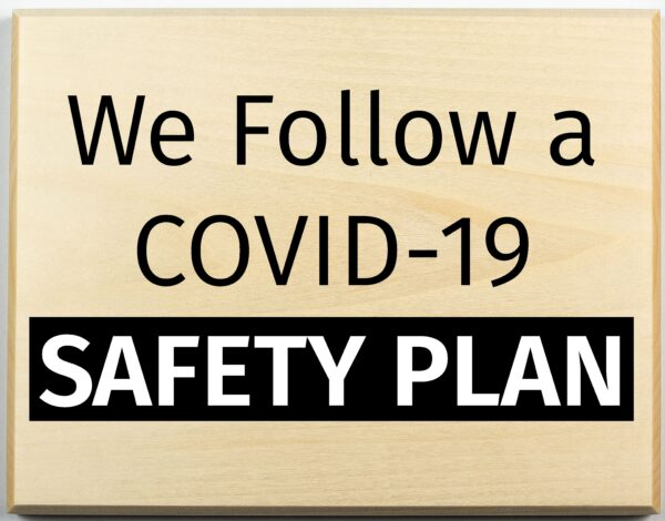Covid-19 Safety Plan Sign