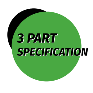3 part specification MasterSpec, Icon