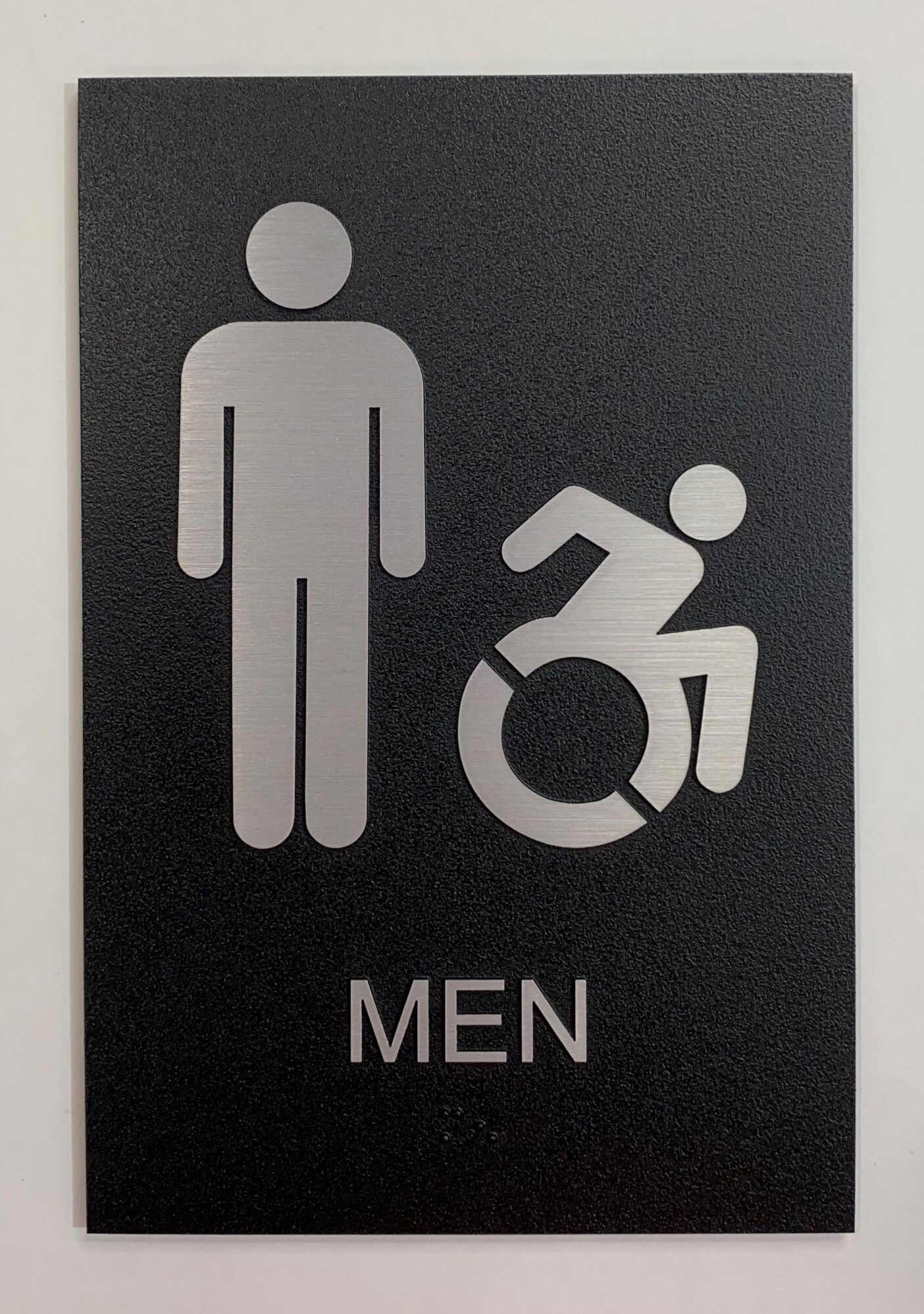 Exterior Mens Restroom Sign