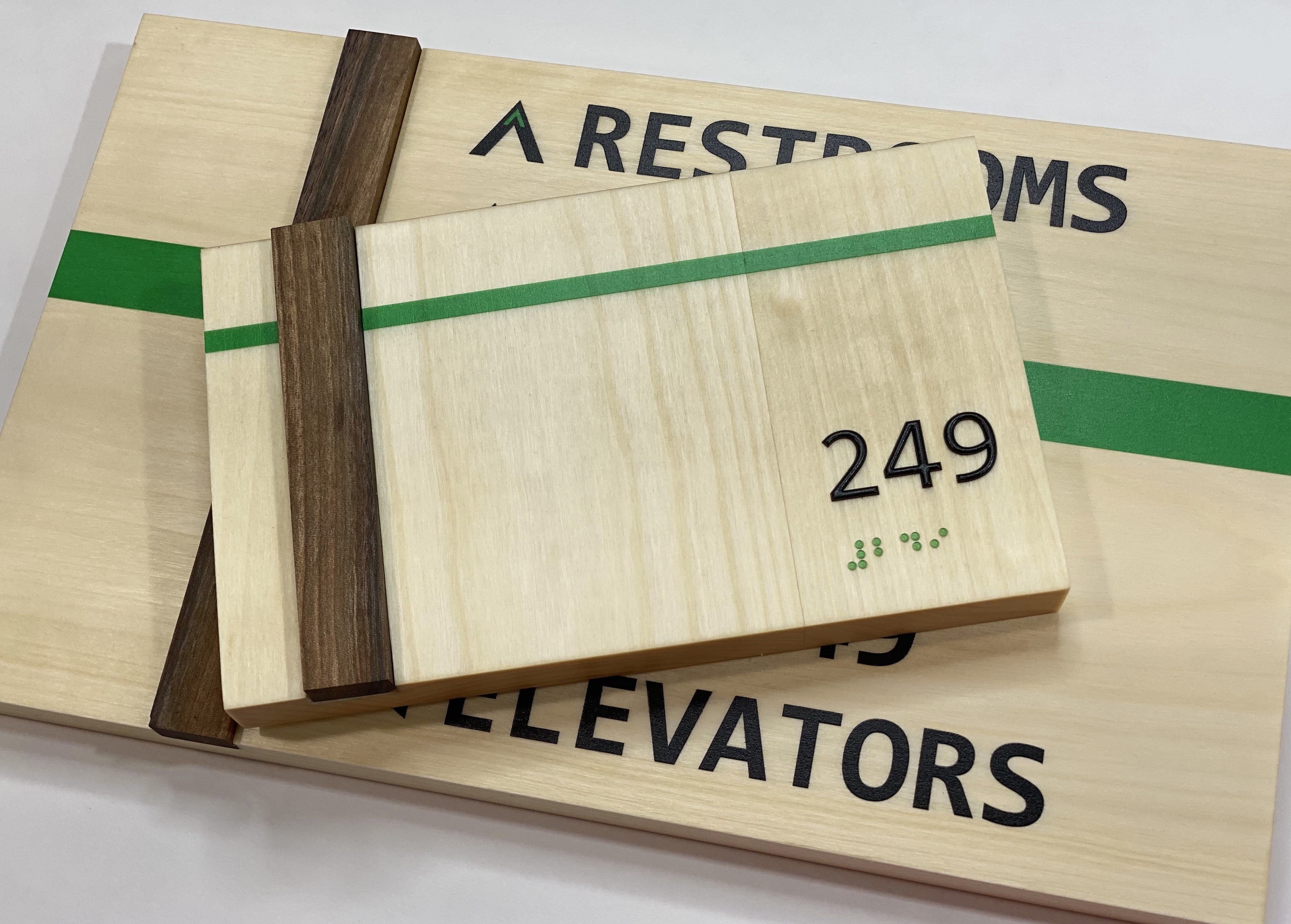 sustainable ADA signs, office signs, braille
